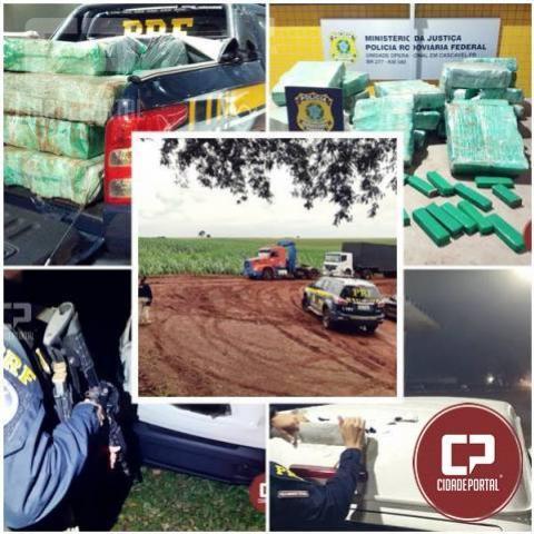 PRF apreende 1,5 tonelada de maconha no fim de semana no Paraná
