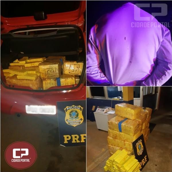PRF prende homem com 401 Kg de maconha em Laranjeiras do Sul