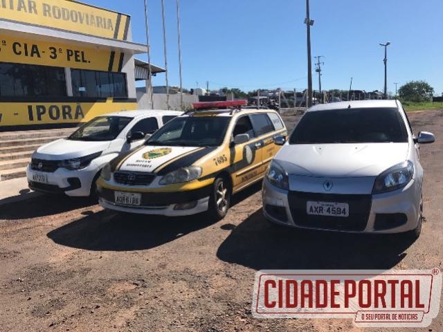 Equipe da Rotam da PRE recupera dois veículos no município de Perobal