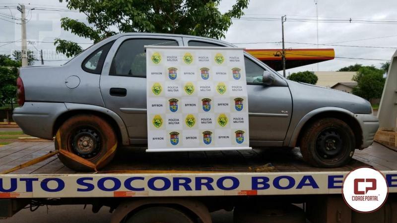 Veículo roubado em 1999 na cidade de São Paulo foi recuperado pelo BPFron com placas do Paraguai