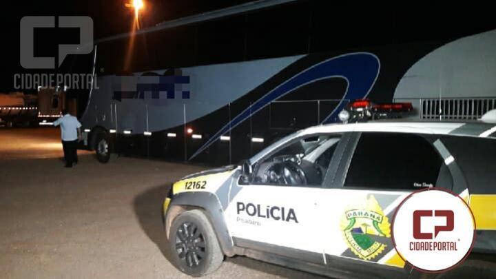 Uma tentativa de assalto a ônibus na PR-158 entre Campo Mourão e Peabiru foi registrada