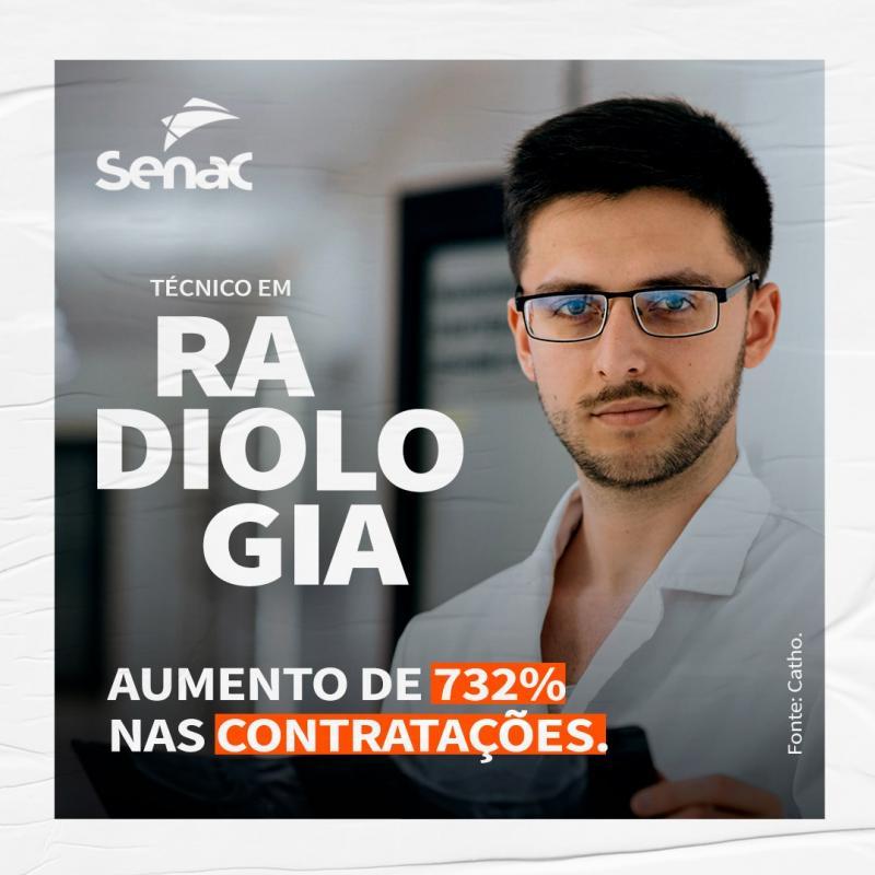 Senac Campo Mourão com matrículas abertas para Técnico em Radiologia