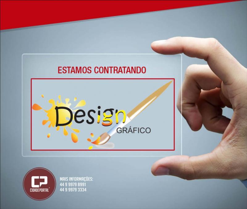 Contrata-se! Designer Gráfico - Para atuar em projetos de Webdesign e criação de materiais gráficos