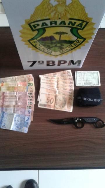 Policiais do 7º BPM apreendem dinheiro falso e um veículo com contrabando em Tapejara e Tuneiras