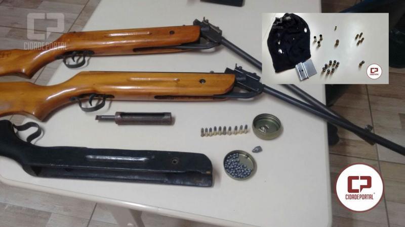 Operação entre Polícia Civil e Militar, apreende armas, munições e acessórios em Quarto Centenário