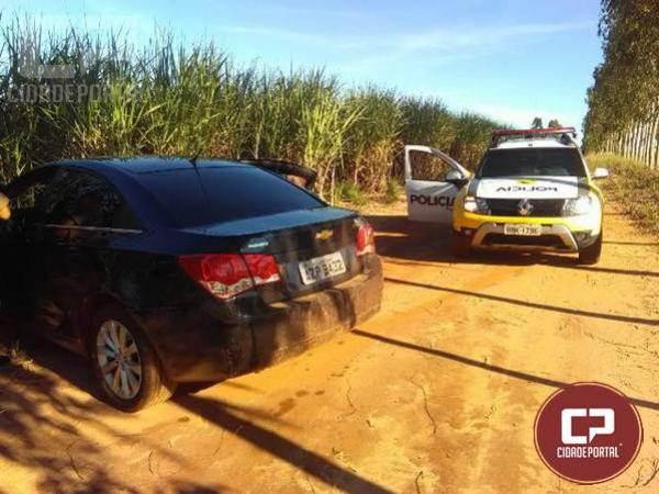 Policiais do 7º BPM recuperam veículo furtado em Cruzeiro do Oeste