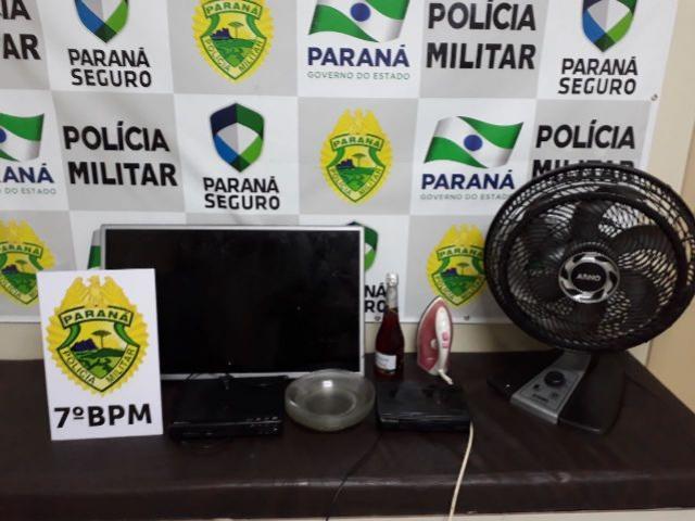 Ações Militares em Cruzeiro D' Oeste e Cidade Gaúcha resultam em apreensão de arma de fogo e objetos furtados