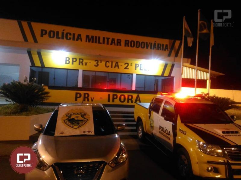 Polícia Rodoviária Estadual de Iporã apreende veículo carregado de mercadorias contrabandeadas