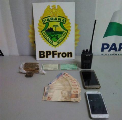 Polícia Militar através do BPFron detém dupla e apreende ilícitos na cidade de Guaíra