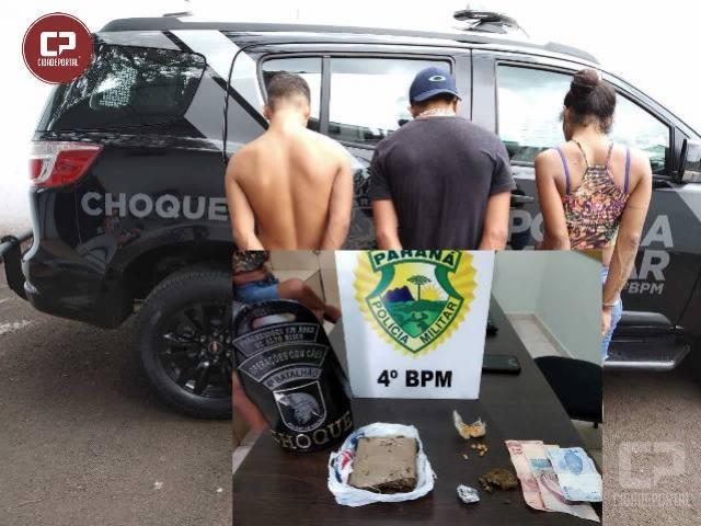 Polícia Militar de Maringá encaminha três pessoas por tráfico de drogas