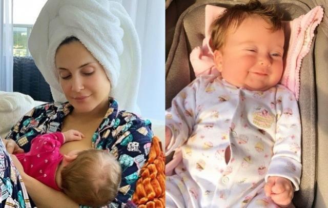 Claudia Leitte se derrete por Bela: Bebê de dois meses mais gostoso