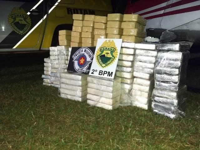 Helicóptero carregado com R$ 2 milhões em drogas é apreendido pela PM no Norte Pioneiro