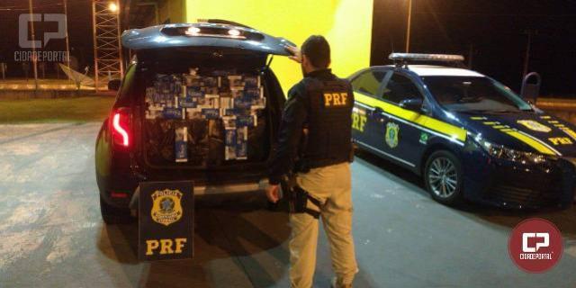 Homem é preso pela Polícia Rodoviária Federal com cigarros contrabandeados