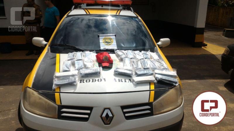 Polícia Rodoviária Estadual do Posto de Goioerê aprende 12,8 kg de Haxixe durante fiscalização