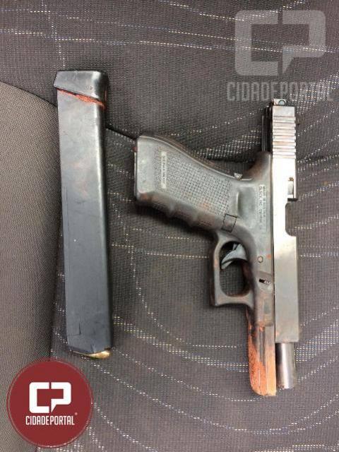 Polícia Militar de Japorã apreende arma austríaca