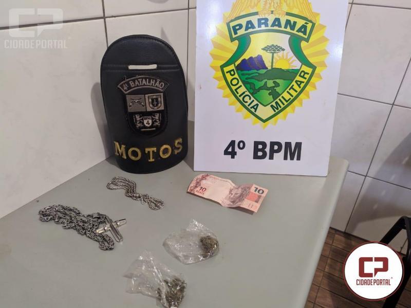 Polícia Militar realiza prisão por tráfico de drogas em Mandaguari