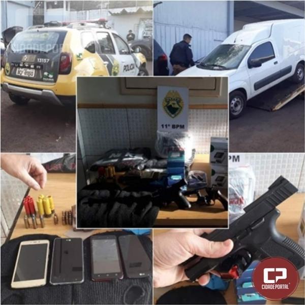 Polícia Militar prende acusados de cometerem assaltos a ônibus de turismo na região de Campo Mourão