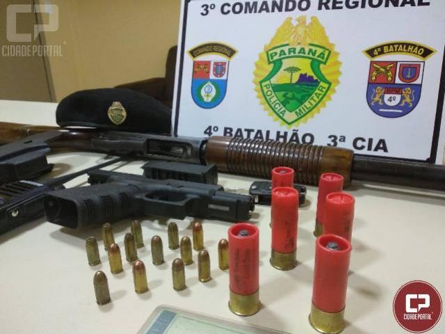 Polícia Militar realiza blitz apreende duas armas de fogo e prende uma pessoa em Itambé