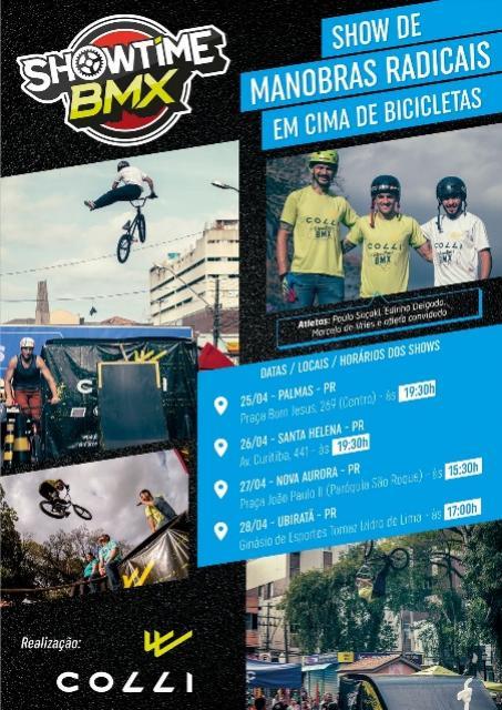 Showtime Bmx tem turnê agendada no Paraná.