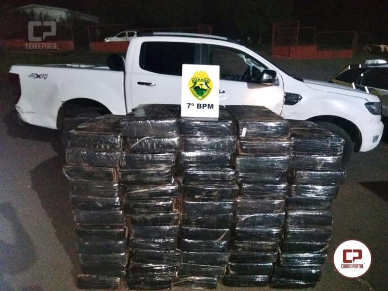 Rotam do 7º BPM apreende 980 kg de maconha em Cruzeiro do Oeste