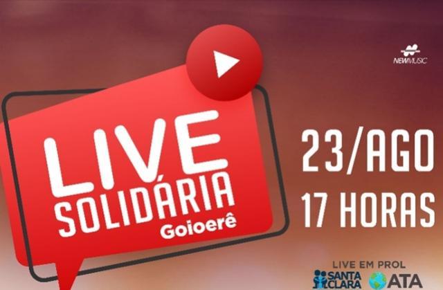 Live solidária com Ana Apoloni, Marco Brasil Filho, Wagner Barreto e convidados será domingo, 23, às 17 horas