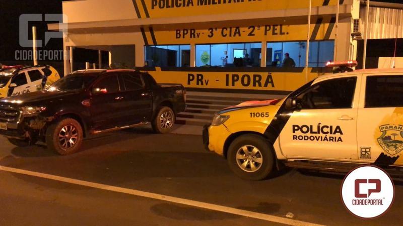 Posto Policial Estadual Rodoviário de Iporã recupera veículo com alerta de roubo