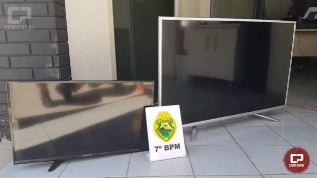Policiais Militares do 7º BPM recuperam em Rondon aparelhos televisores furtados em Cidade Gaúcha