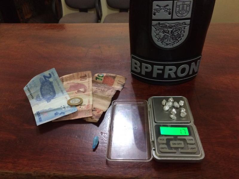 BPFrom prende um suspeito por tráfico em Guaira neste sábado, 25
