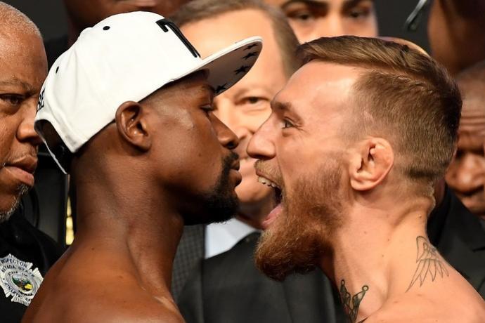 McGregor fica mais pesado, e Floyd responde: Peso não vence lutas