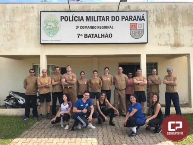 7º BPM participa do dia internacional do desafio realizando atividades físicas