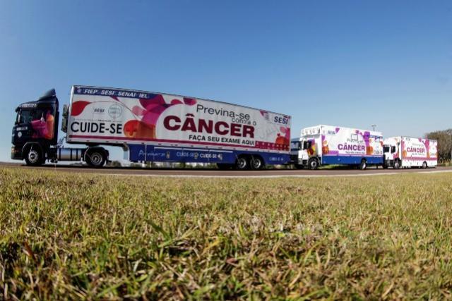 Sesi vai atender empresas de todo o Paraná, realizando mamografias e orientando trabalhadoras das indústrias