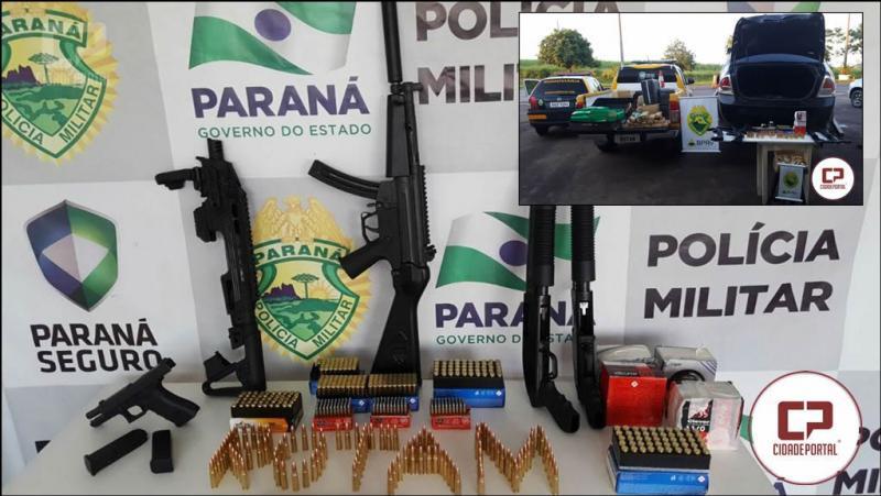 ROTAM da Polícia Rodoviária efetua uma grande apreensão de munições, armas e drogas