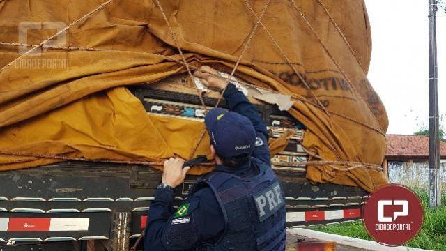 Polícia Rodoviária Federal apreende R$ 2,7 milhões em cigarros contrabandeados