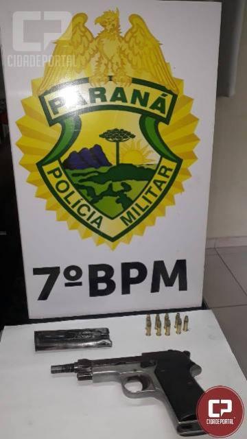 Policiais de Cidade Gaúcha encaminham uma pessoa à Delegacia por porte ilegal de arma de fogo