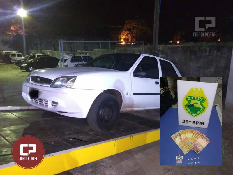 Polícia Militar de Umuarama prendem duas mulheres e apreendem veículo possivelmente usado em roubo