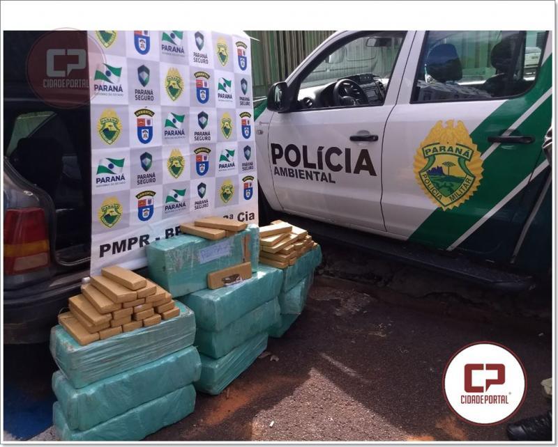 Polícia Ambiental de Umuarama apreende 158 KG de entorpecentes em posse de um menor