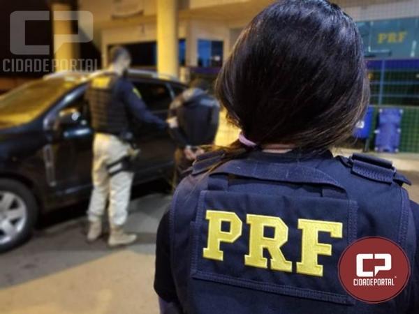 PRF recupera veículo roubado e prende condutor quando tentava cruzar a Ponte Ayrton Senna em Guaíra/PR