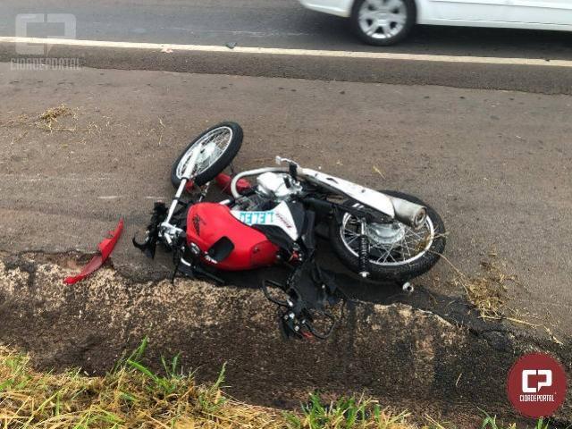 Motociclista fica gravemente ferido após colidir com um animal entre Perobal e Umuarama
