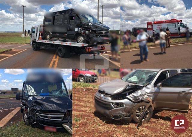 Acidente no trevo de Juranda deixou 4 pessoas feridas
