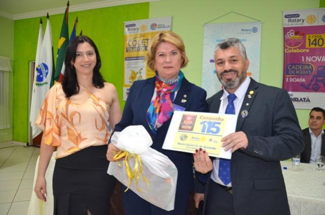 Rotary Club de Ubiratã recebeu a visita da governadora do Distrito 4640