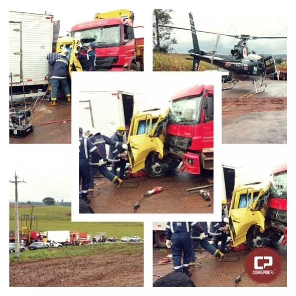 Grave acidente com vítima em Campina da Lagoa Mobiliza o serviço aéreo do Samu