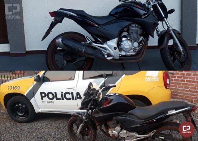 Polícia Militar de Juranda apreende motocicleta conduzida por dois adolescentes de Ubiratã
