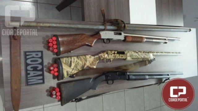 Polícia Militar apreende três espingardas cal.12 com suspeitos de praticarem caça ilegal em Ubiratã