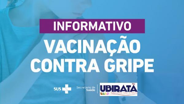Vacinação contra Gripe para idosos retornará na segunda-feira, 06, em Ubiratã