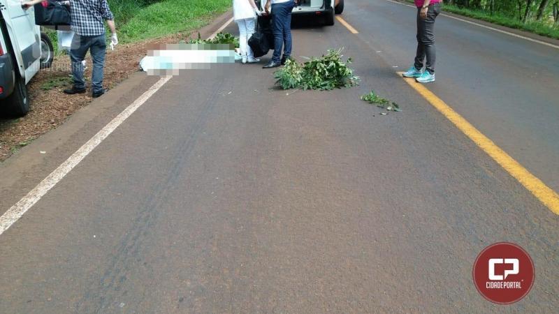 Homem salta de caminhão em movimento e acaba morrendo em Campina da Lagoa