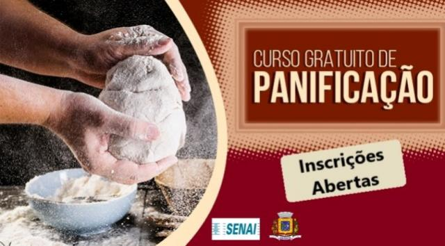 Inscrições abertas para o Curso de Panificação gratuito em Ubiratã