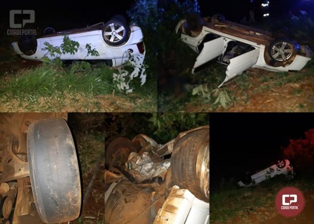 Motorista morre após capotar veículo na BR-369 em Ubiratã