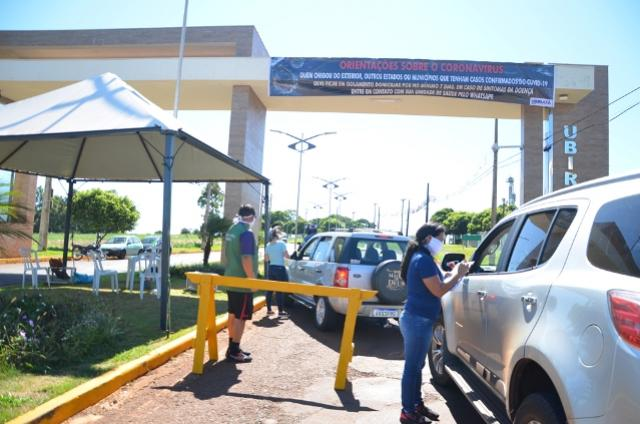 """Ubiratã faz """"barreira sanitária"""" nas entradas da cidade"""
