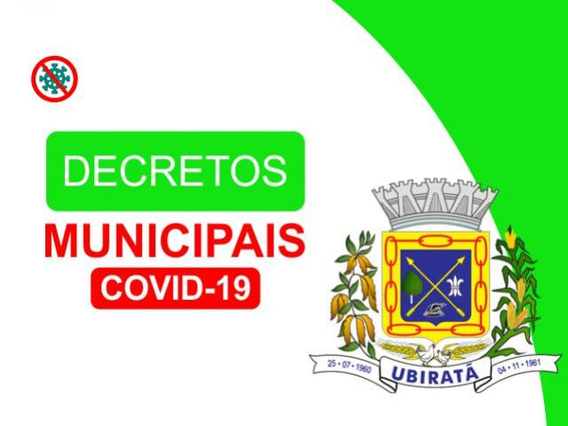 Prefeitura atualiza decretos de enfrentamento a pandemia de Coronavírus em Ubiratã