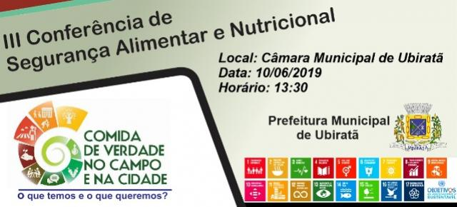 Conferência Municipal de Segurança Alimentar e Nutricional será realizada no mês de junho em Ubiratã